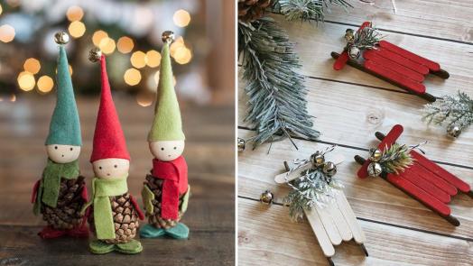 DIY decoraciones navideñas